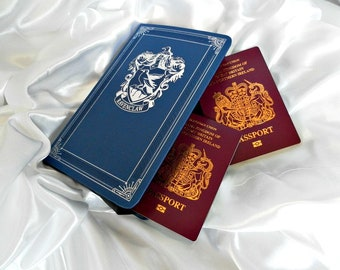 Harry Potter Ravenclaw Passport Wallet - Book Purse - Harry Potter Gift - Ravenclaw Lover Gift