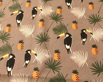 Fabric coupon 50 x 70 cm tropical theme
