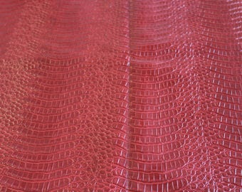 Faux leather Croc red 50x70cm