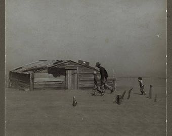 Dust Bowl, Cimarron County, Oklahoma, Dust Storm, 1936