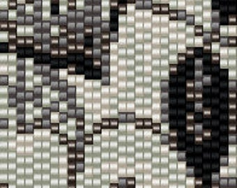 Monochrome floral peyote cuff beading pattern