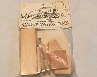 Vintage Wood Covered Wagon Kit