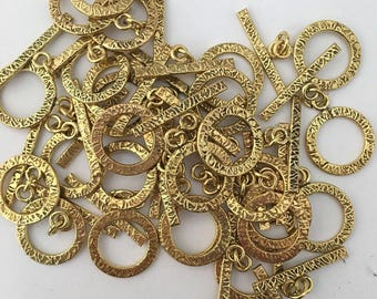 WHOLESALE BULK 30 Brass Toggle Clasps Findings Jewelry Supply Necklace Clasp, Bracelet Clasp