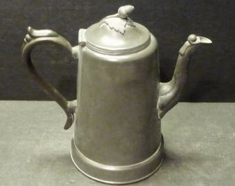 Pewter Teapot with Acorn Finial. Interesting and Old!