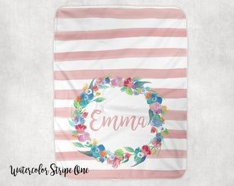 Personalized Minky Baby Blanket-Baby Girl Gift-Receiving Blanket-Swaddling Blanket-Crib Blanket-Personalized Gift-Baby Shower Gift