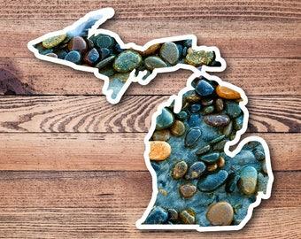 Michigan Mitten Vinyl Decal Sticker Stones 01
