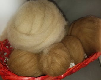Alpaca Roving, Grade 1 fiber from our alpacas, sold by the ounce.