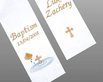 BAPTISM STOLE/SASH - Embroidered