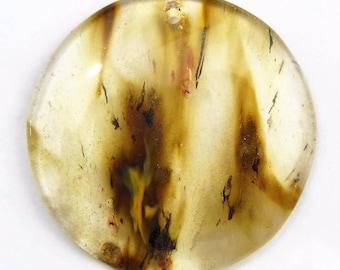 46mm/ Translucent/  Cherry Quartz/46mm Gemstone Pendant Bead