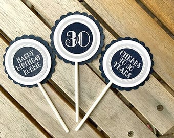 30th birthday cupcake toppers Etsy
