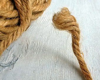 Brown jute twine 20 yd Natural jute cord Jute cording Decorative rope Rustic wedding decor Home garden supply Hand craft Gift eco packaging