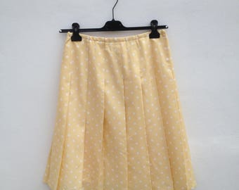 Vintage pleated skirt with pois / Gonna a pieghe vintage sartoriale con pois