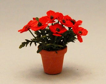 1/2 inch scale miniature-Poppies
