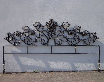 Headboard Bed Hollywood Regency Black Brass French Provincial Glam King Size Italian Chic Glamour Rococo Baroque Orante CUSTOM PAINT Avail
