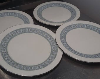 4 Royal Doulton 'Counterpoint' Dinner Plates 270 mm