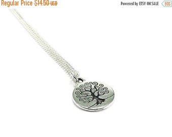 SALE Tree of Life Necklace Sterling Silver Plated Chain