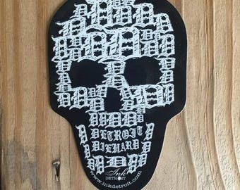 Detroit Skull Sticker
