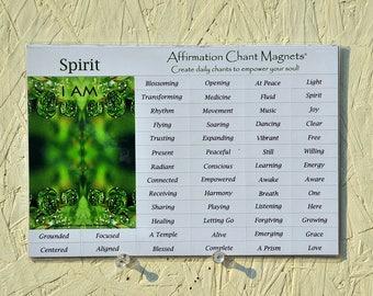 Affirmation Chant Magnets, Spirit Affirmation Kit, Gift for Soul, Spirit Meditation, daily mantra, daily affirmation, gift for friend, I AM