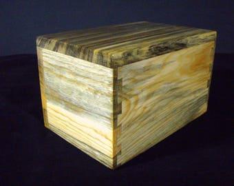 wood pet urn medium