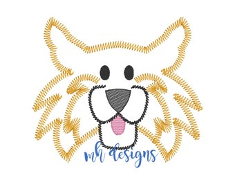 Vintage Stitch Wildcat embroidery design, Wildcat embroidery file, Simple stitch wild cat