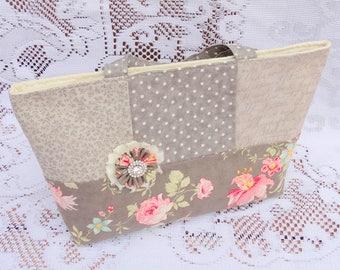 Floral Scripture Tote Bag, Book Bag, Music Bag, Lunch Bag, Mail Bag, Free USA Shipping