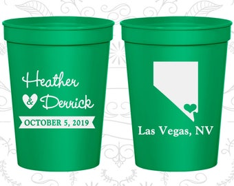 Green Stadium Cups, Green Cups, Green Party Cups, Green Wedding Cups (127)