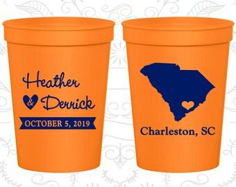 Orange Stadium Cups, Orange Cups, Orange Party Cups, Orange Wedding Cups (139)