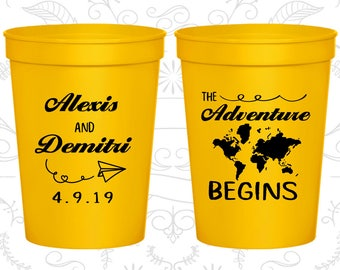 Yellow Stadium Cups, Yellow Cups, Yellow Party Cups, Yellow Wedding Cups (276)