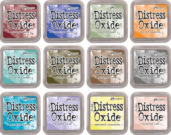 IN STOCK! SET #3 Tim Holtz Distress Oxide Ink Pads - Set Of 12 - 2018 Colors