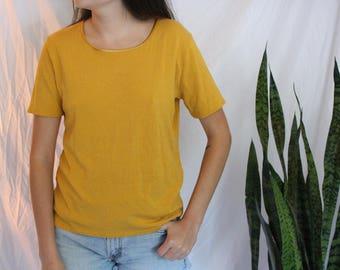 Mustard Yellow Shirt - Soft & Slinky