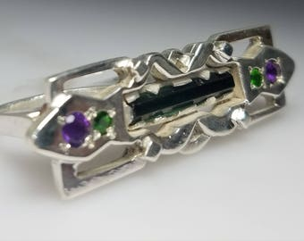 Sterling Silver Hand Fabricated Double Finger Ring