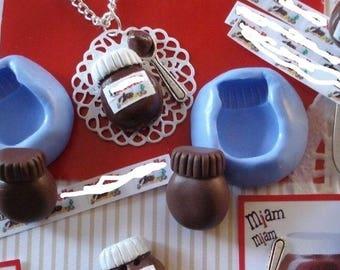 silicone mold chocolate spread jar