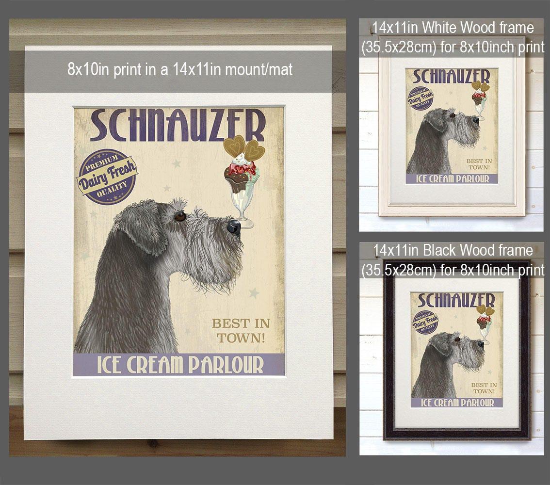 Delightful Kitchen Signs Schanuzer Grey Ice Cream Dog  Kitchen Decor Kitchen Wall Decor  Kitchen Print