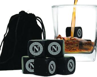 Groomsmen Whiskey Stones, Engraved Whiskey Stones, Whiskey Lovers Gift, Groomsmen Gifts, Scotch Stones, Bourbon Gifts, Set of 9