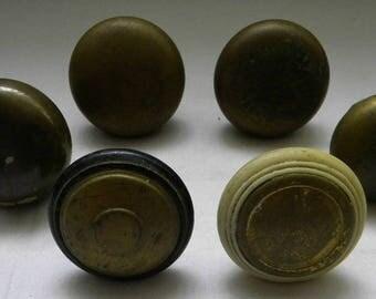 6 Vintage Door Knobs  - Mixed Media - Assemblage - Door Restoration