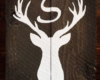 Monogram buck head