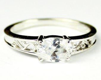 On Sale, 30% Off, Cubic Zirconia (CZ), 925 Sterling Silver Ladies Ring, SR362
