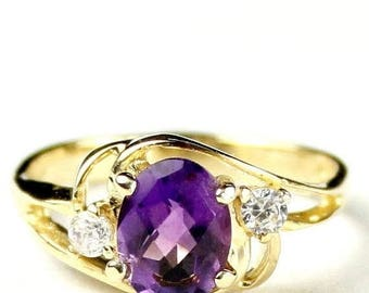 On Sale, 30% Off, Amethyst, 10KY Gold Ring, R176