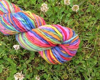 RAINBOW - Handspun Merino Worsted Weight Yarn - 112 YDS