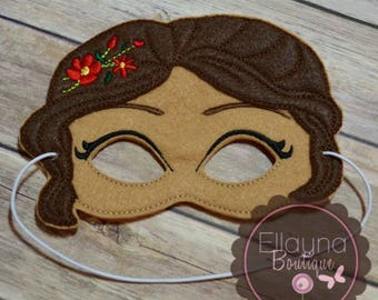 Felt Mask - Princess Elena inspired