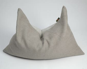 linen flax buckwheat pillow sleep pillow natural grey linen