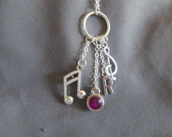Music Lover Charm Necklace