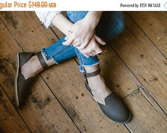 SALE 25% OFF: Ankle Strap Sandals, Leather Sandals, Summer Sandals, Leather Flats, Women's Shoes, Slip Ons, Loafers, Flat Shoes, Adjustable
