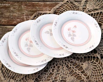 Set of 4 Vintage Queenu0027s Fine Bone China u0027Francineu0027 pattern England Side Plates Retro & Etsy :: Your place to buy and sell all things handmade