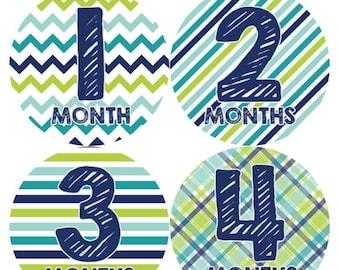 Monthly Baby Milestone Stickers Baby Boy Baby Shower Gift One-Piece Baby Stickers Monthly Baby Stickers Baby Month Sticker 003