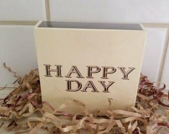 Oversized Matchbox Matches Happy Day Decorative
