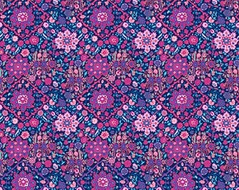 Pre-order: Kaliedescope in Navy by Amy Butler from the Soul Mate collection for Free Spirit #CPAB003.8Navy by 1/2 yard