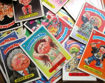 GARBAGE PAIL KIDS Trading Card Stickers - 12 Assorted Pcs Vintage Original series from the 1980's  Lg-gpk
