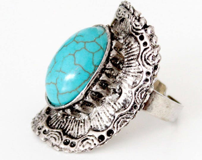 Indian ring with turquoise