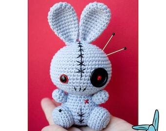 Rabbit Voodoo Doll - crochet amigurumi toy. Pincushion.